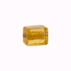 Murano Glass Bead Silver Foil Cubes 10x12mm Topaz