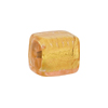 Murano Glass Bead, Pink, Rose 24kt Gold Foil Cube 16mm