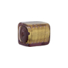 Murano Glass Bead, Light Amethyst Gold Foil Cube 16mm
