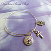 Adjustable Charm Bangle Bracelet