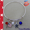 4th of July Patriotic Charm Bracelet