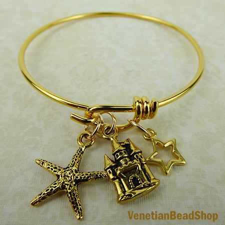 By the Sea Charm Bangle Bracelet