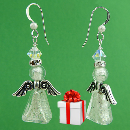 Holiday Earrings Angel Design