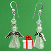 White Gold Foil Angel Earrings Design