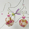 Pink Roses Primavera Earrings