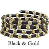 Black and Gold Serpentine Bracelet