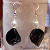 Black and White Octagonal Earrings