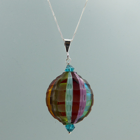 Blown Sculpted Murano Glass Bead Necklace Design