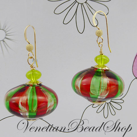 Easy to Make Murano Glass Blown Earrings