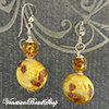 Topaz and Aventurina Blown Earrings