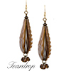 Blown Teardrop Earrings