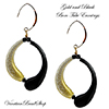 Boro Black and Gold Blown Earrings