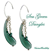 Boro Sea Green Blown Earrings
