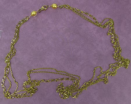 Natural Brass Chain Necklace