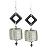 Chunky Charcoal Earrings