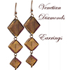 Gold Foil Dangling Diamond Earrings