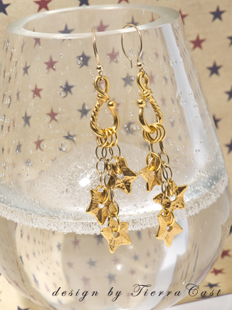 Make these Dazzling Star Earrings