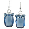 Denim Blue Dangle Earrings