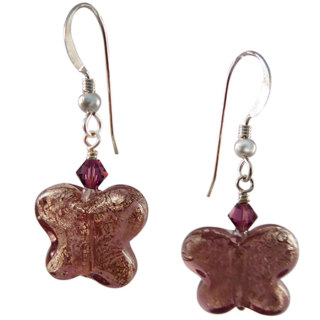 Amethyst Butterfly Earrings Free Design