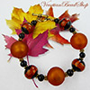 Fall Bracelet Black and Topaz