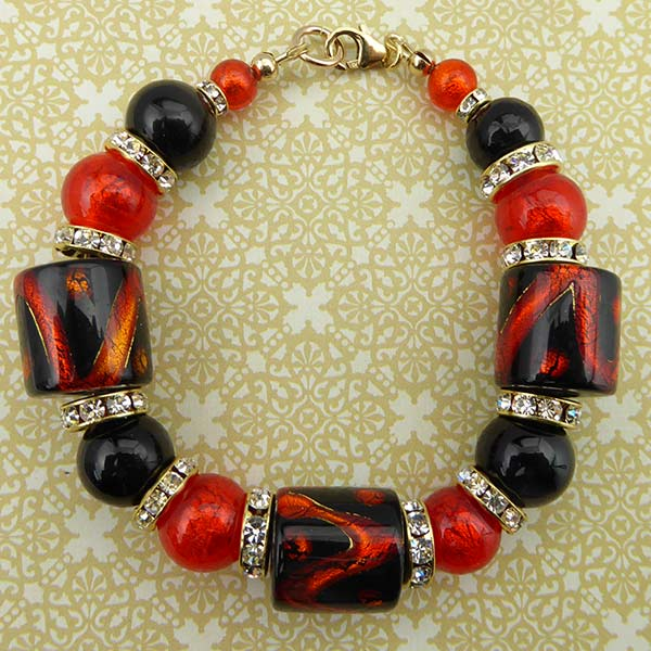 Orange and Black Fall Bracelet Free Design