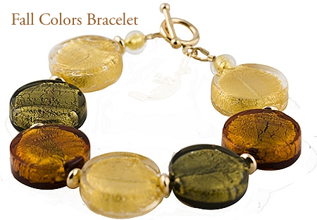 Make this Elegant and Easy Fall Colors Bracelet