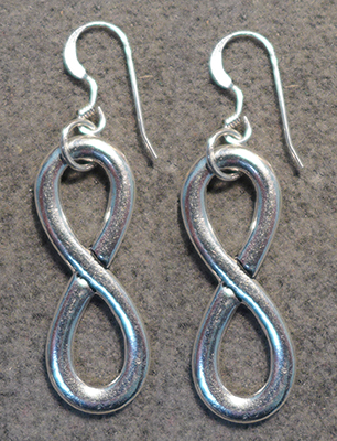 Make these Pewter Earrings to match your Infinity Bracelet
