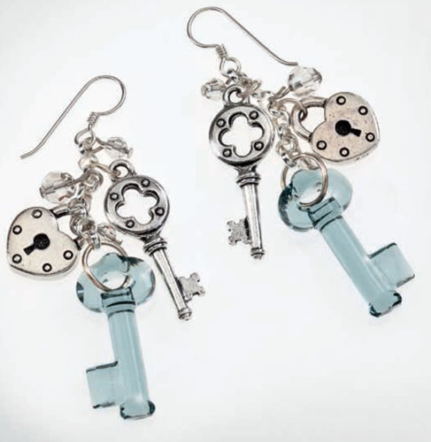 Lock and Key Earring Design