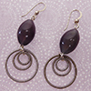 Plum Oval Earrings and Rings