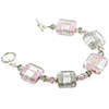 Pink and Gray Rectangle Bracelet