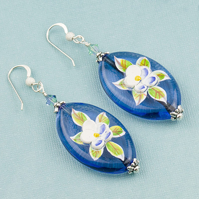 Free Design Porcelain and Murano Glass Earrings
