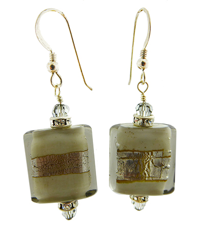 Gray Rectangle Earrings - Easy to Make