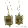 Silver Gray Rectangle Earrings