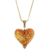 Venetian Red Heart Pendant Necklace