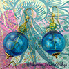 Aqua Ca'd'oro Blown Earrings