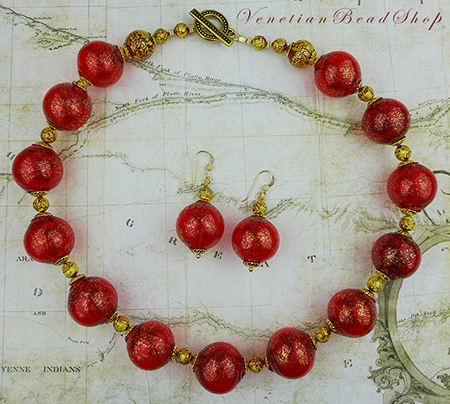 Murano Blown Bead Necklace