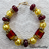 Red and Gold Foil Sole Bracelet