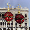 Red Aventurina Sash Earrings