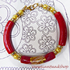 Red Reticello Tube Bracelet