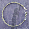 Double Strand Silver Braid Bracelet