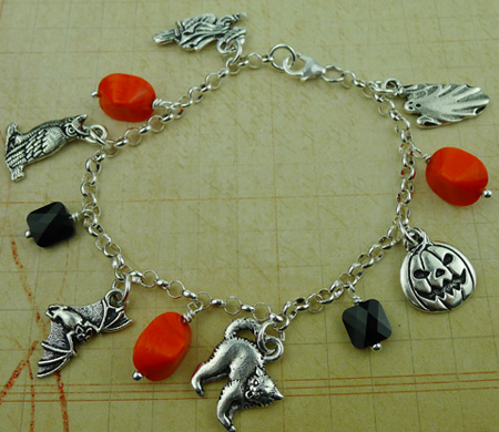 Halloween Bracelet Featuring TierraCast Charms