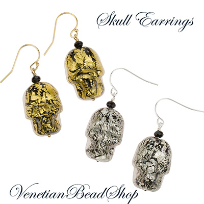 Skulls are in Fashion - Make these earrings