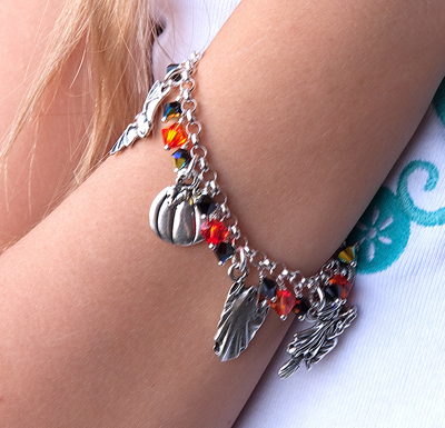 Close Up of Marcella's Halloween Bracelet