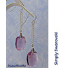 Simply Swarovski Amethyst Earrings