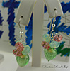 Mint Green Hearts and Swarovski Earrings
