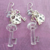 Swarovski Key, Lock and Key Earrings