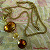 Fall Topaz Pendant Necklace