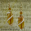 Topaz Spiral Oval Earrings