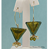 Olivine Gold Triangle Earrings