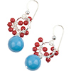 Turquoise Swarovski Pearl Earrings